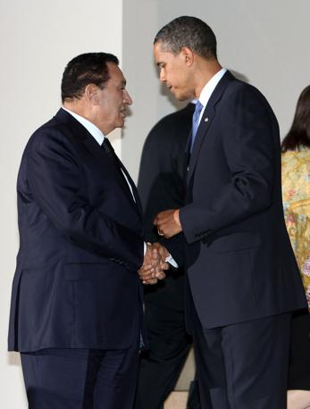 Hosny Mubarak con Barack Obama ( Imagoeconomica)