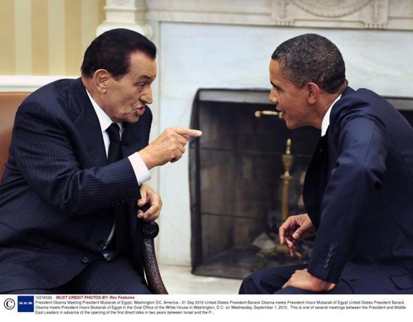 Mubarak con Obama (Reuters)