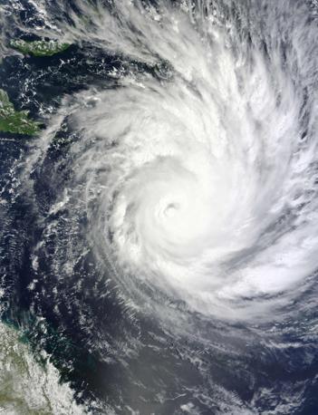 Il ciclone Yasi sul Queensland catturato dalllo spettometro della Nasa  (Reuters)