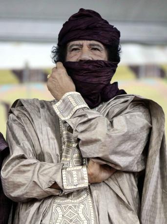 In Libia nell'ottobre 2009  (Epa)