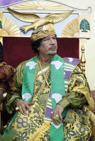 Ad un meeting dell'Unione africana a Tripoli, sempre nel 2009 (Epa)