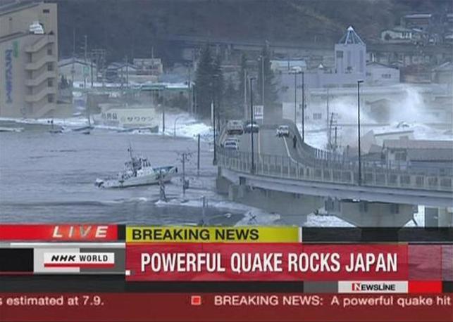 L'onda anomala a Kamaishi (Reuters)