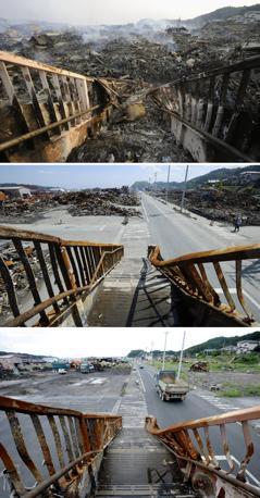 Kesennuma: 13 marzo, 3 giugno e 1° settembre (Ap/Kyodo)