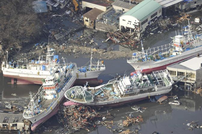 Il porto di Kesennuma (Reuters/Yomiuri)