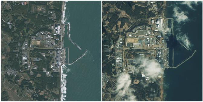 L'area della centrale di Fukushima (Reuters)