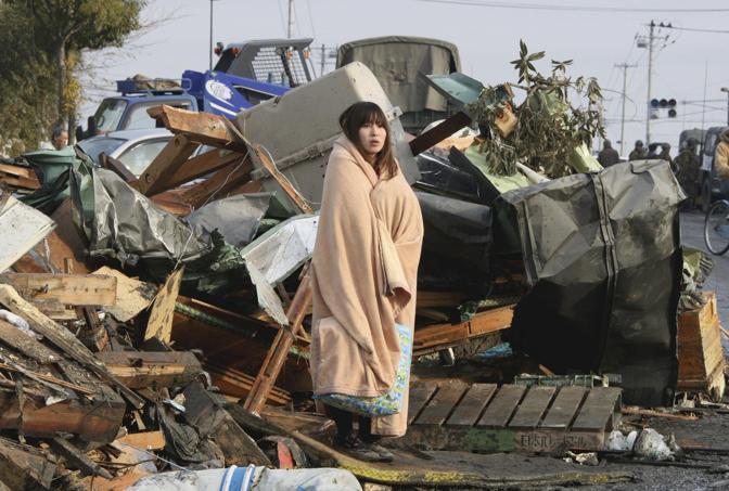 Una superstite a Ishimaki (Reuters)