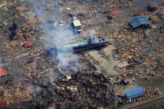 Un'altra immagine del porto di Kesennuma (Ap)