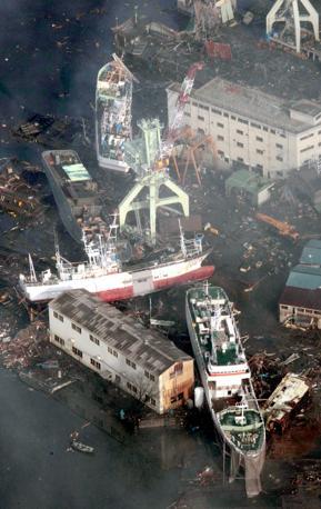 Il porto di Kesennuma (Ap)