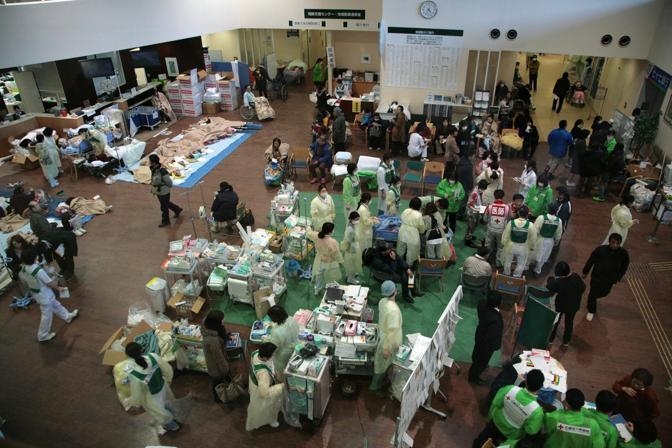 L'ospedale della Croce Rossa a Ishinomaki (Reuters)