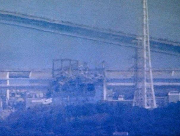 I resti del contenitore del reattore 3 della centrale di Fukushima 1 (Ap)