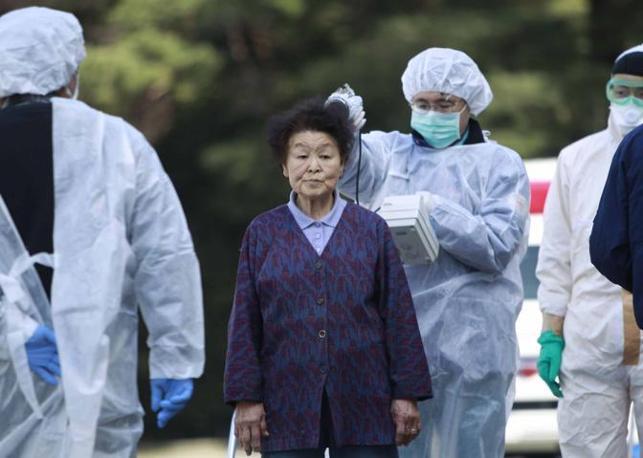 Controlli sul livello di radioattività assorbita dalla popolazione evacuata (Ap)