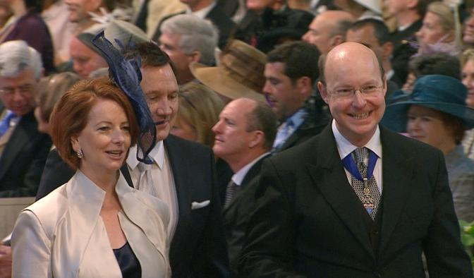 Il premier australiano Julia Gillard con il marito (Ap)