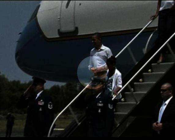 Il presidente doveva assistere alla partenza dello shuttle Endeavour, poi rinviata per motivi tecnici