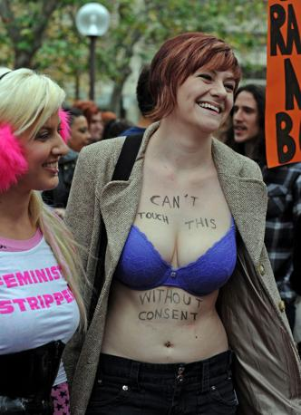 SlutWalk  a Sidney (Afp)