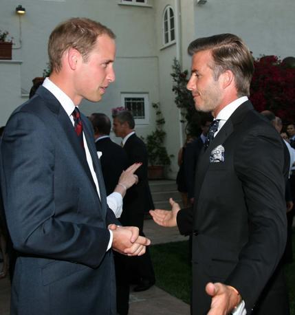 A Los Angeles è stato organizzato un party in onore di William e Kate: ospite David Beckham (Splash News)