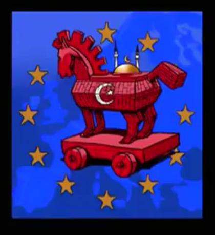 La mezzaluna, simbolo dell'Islam, cavallo di Troia nell'Europa cristiano-ortodossa