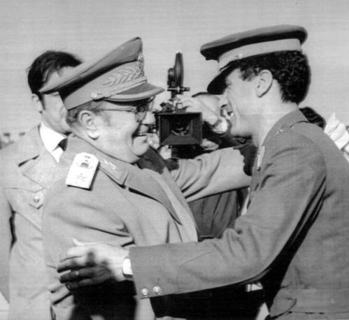 Con il maresciallo Tito a Belgrado nel 1973 (Ap)