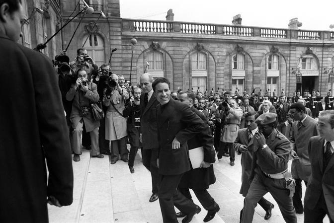 24 novembre 1973 l'arrivo all'Eliseo (Afp)