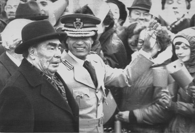 Con Leonid Breznev a Mosca nell'aprile 1981 (Ap)