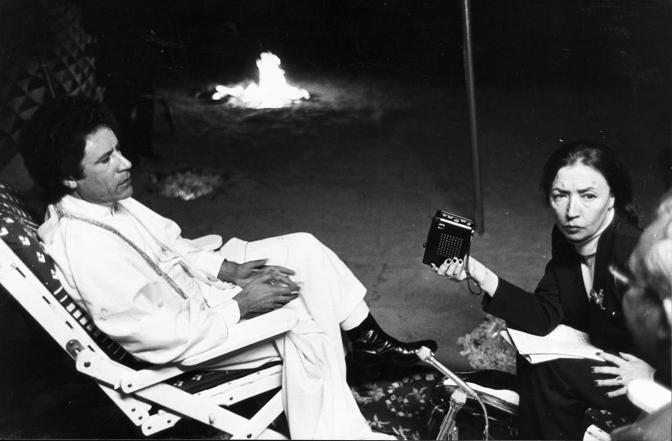 Durante la celeberrima intervista a Oriana Fallaci del 2 dicembre 1979 (Rcs Quotidiani)