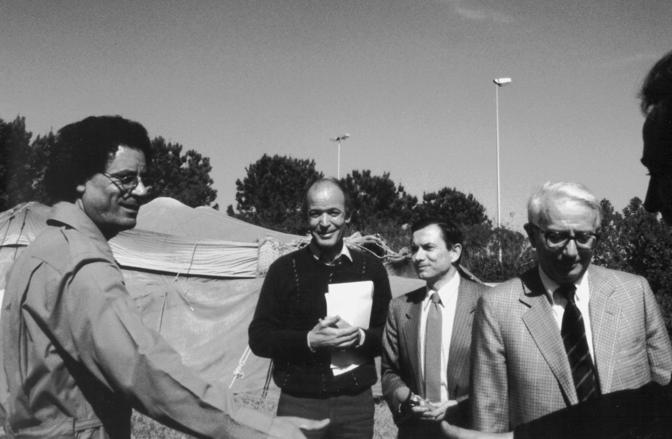 Con Enzo Biagi a Tripoli nel 1986 (Ap)