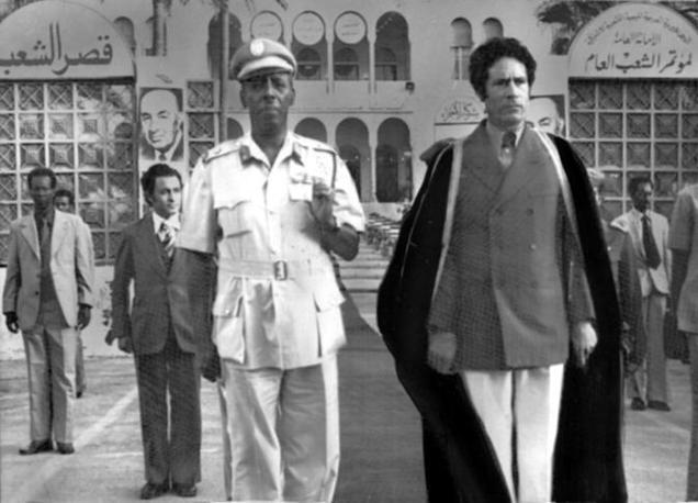 Tripoli, 1978: con il dittatore somalo Siad  Barre (Ap)