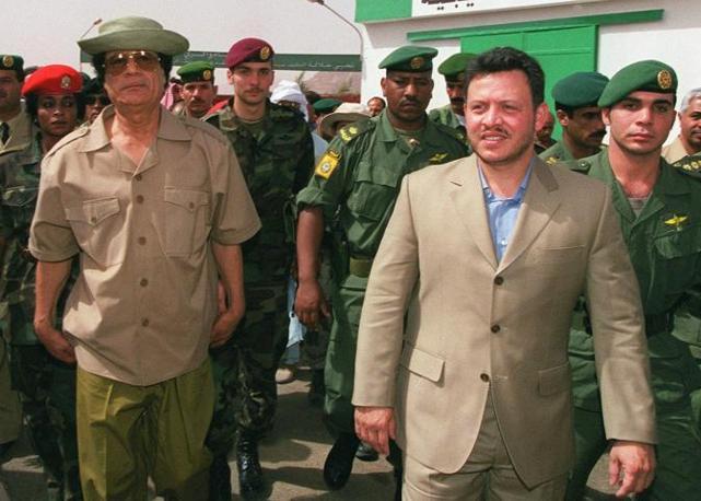 Con il re di Giordania Abdallah II (Ap)