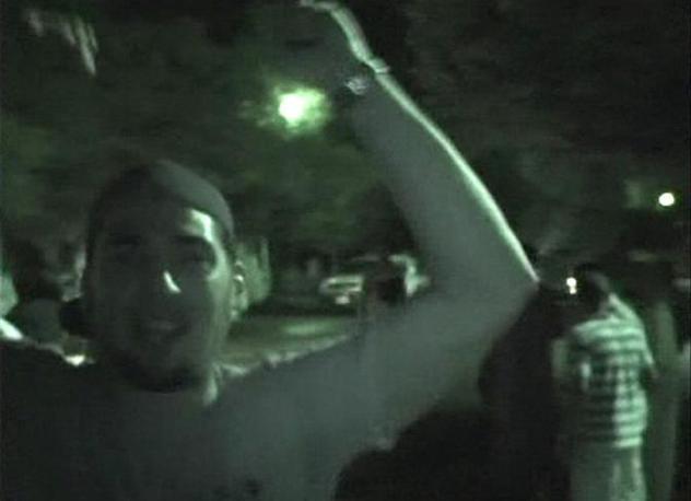 La festa vicino a Piazza Verde a Tripoli (Reuters)