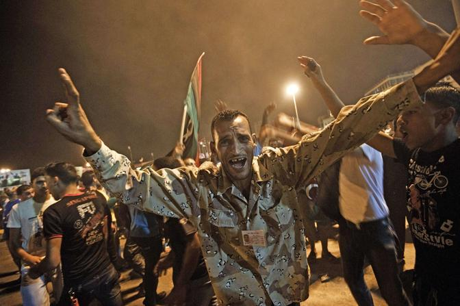 Festa a Bengazi (Afp)