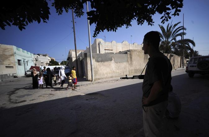 Ribelli nelle strade di Tripoli (Filippo Monforte/Afp)