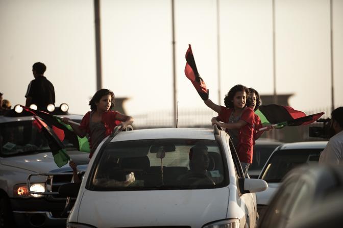 Festa in strada a Tripoli  (Gialuigi Guercia/Afp)