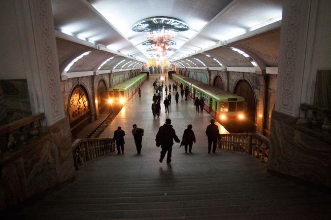 Stazione metropolitana a Pyongyong (Ap)