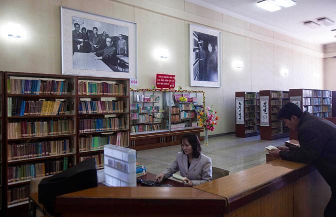 Biblioteca a Pyongyang (Ap)