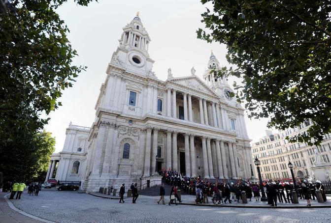 La cerimonia alla St Paul's Cathedral (Afp)