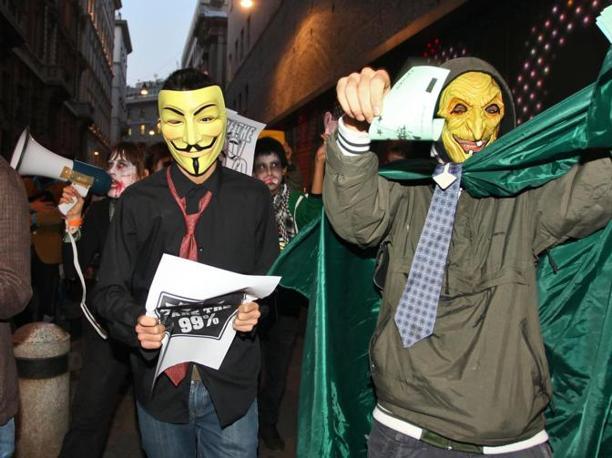 La parata degli Indignados a Milano (Marinelli)