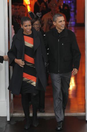 Michelle e Barack Obama: anche loro hanno organizzato una festa per i bambini alla Casa Bianca (Ap)