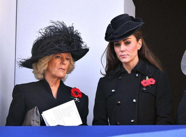 Camilla, duchessa di Cornovaglia  e Kate Middleton (Olycom)