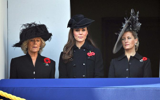 Camilla, Kate e Sophie contessa di Wessex  (Olycom)