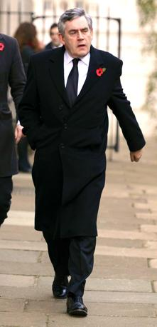 L'ex primo ministro Gordon Brown (Olycom)