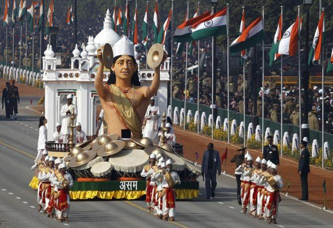 Republic Day. Rappresentanti dello Stato dell'Assam(Ap)