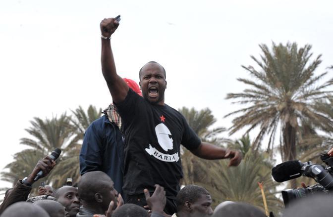 Il leadere dell'opposizione senegalese Malick Noel Secke (Afp)