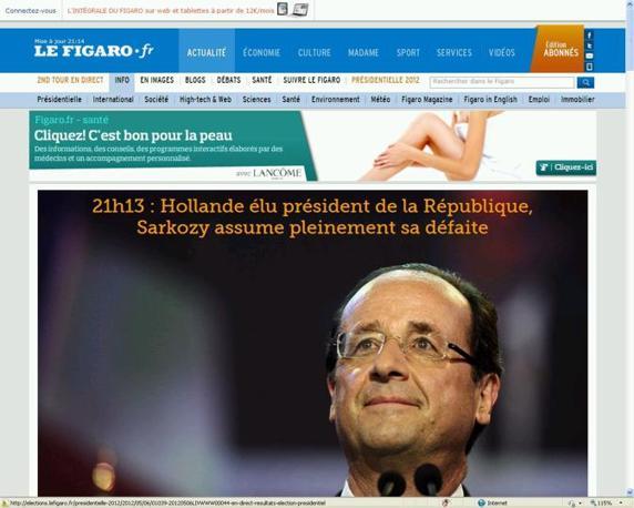 La vittoria di Hollande su Le Figaro