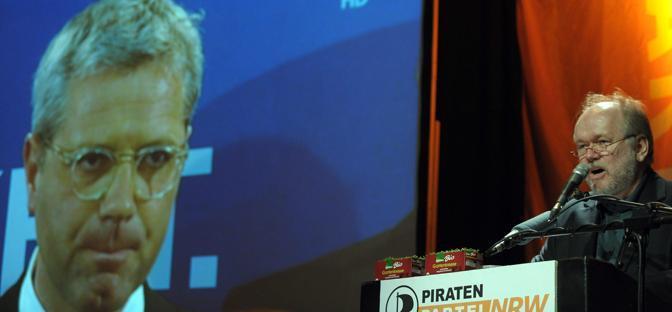 Il candidato dei Pirati Joachim Paul (Epa)