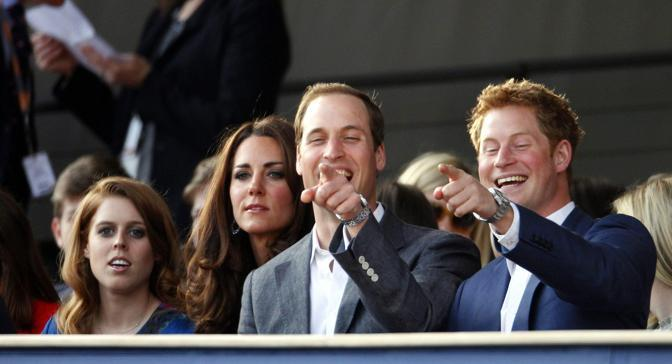 I giovani reali: William, Harry e Kate  (Epa)