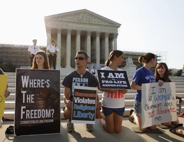 «Dov'è la libertà?««Obamacare viola la libertà religiosa» «Io sono della generazione pro-life» (Reuters)