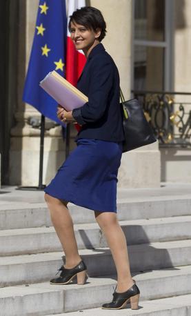 Najat Vallaud-Belkacem, ministro dei Diritti delle Donne e portavoce del governo (Ansa)