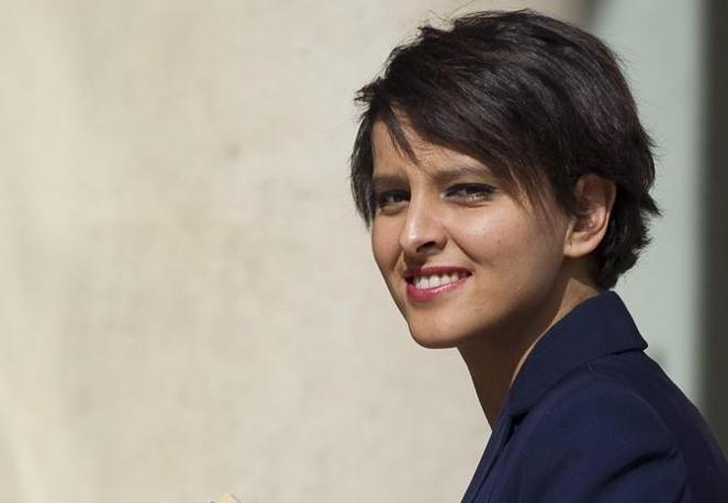 Najat Vallaud-Belkacem è nata in Marocco e all'età di 5 anni si è trasferita in Francia (Epa)