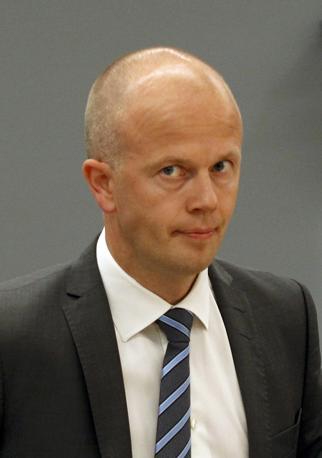 Svein Holden, il procuratore che aveva chiesto la condanna al manicomio criminale (Reuters)
