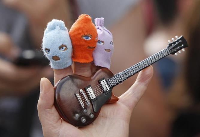 Le marionette. Altro oggetto legato alle Pussy Riot (Epa/Kocherkov)