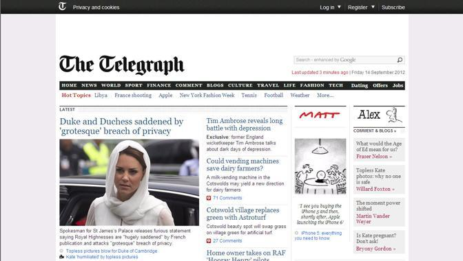 Il Telegraph online